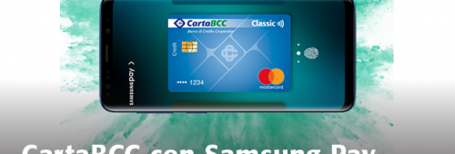 Carta Bcc con Samsung Pay